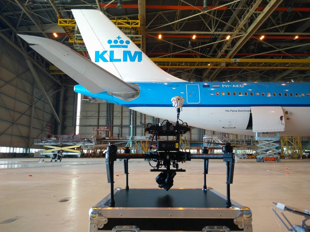 klm aircraft inspections with a drone