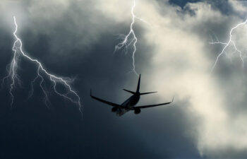 Aircraft lightning protection reduces the threat in case of an occurrence.