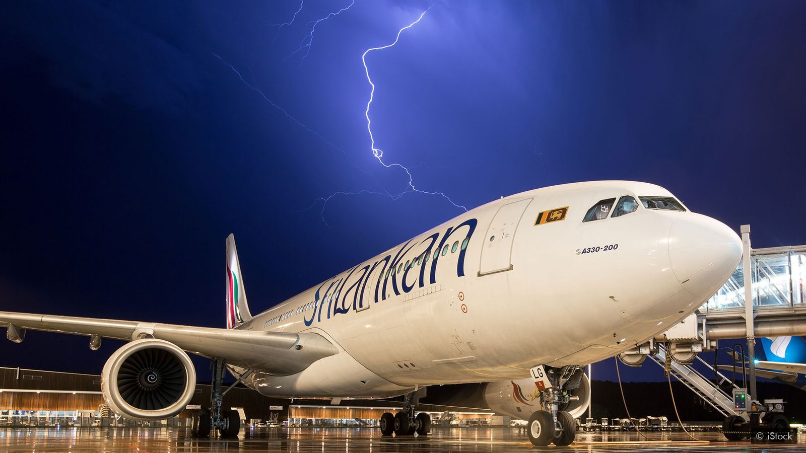 Picture of Sri Lankan Airbus A330 Lightning strike