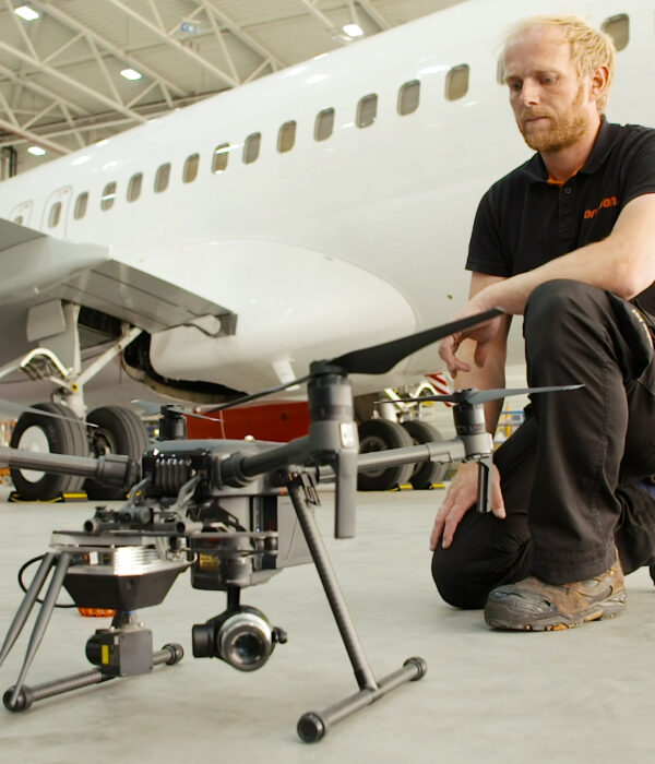 aircraft inspections with drones