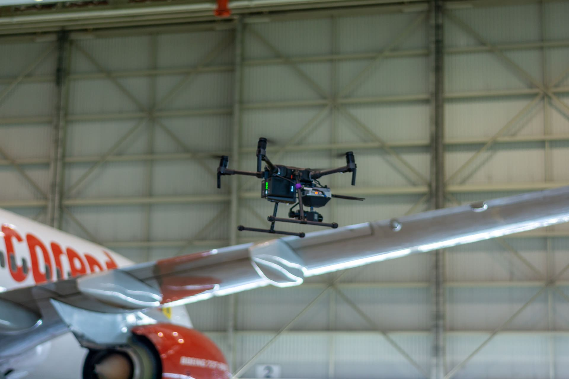 drone inspection of aircraft