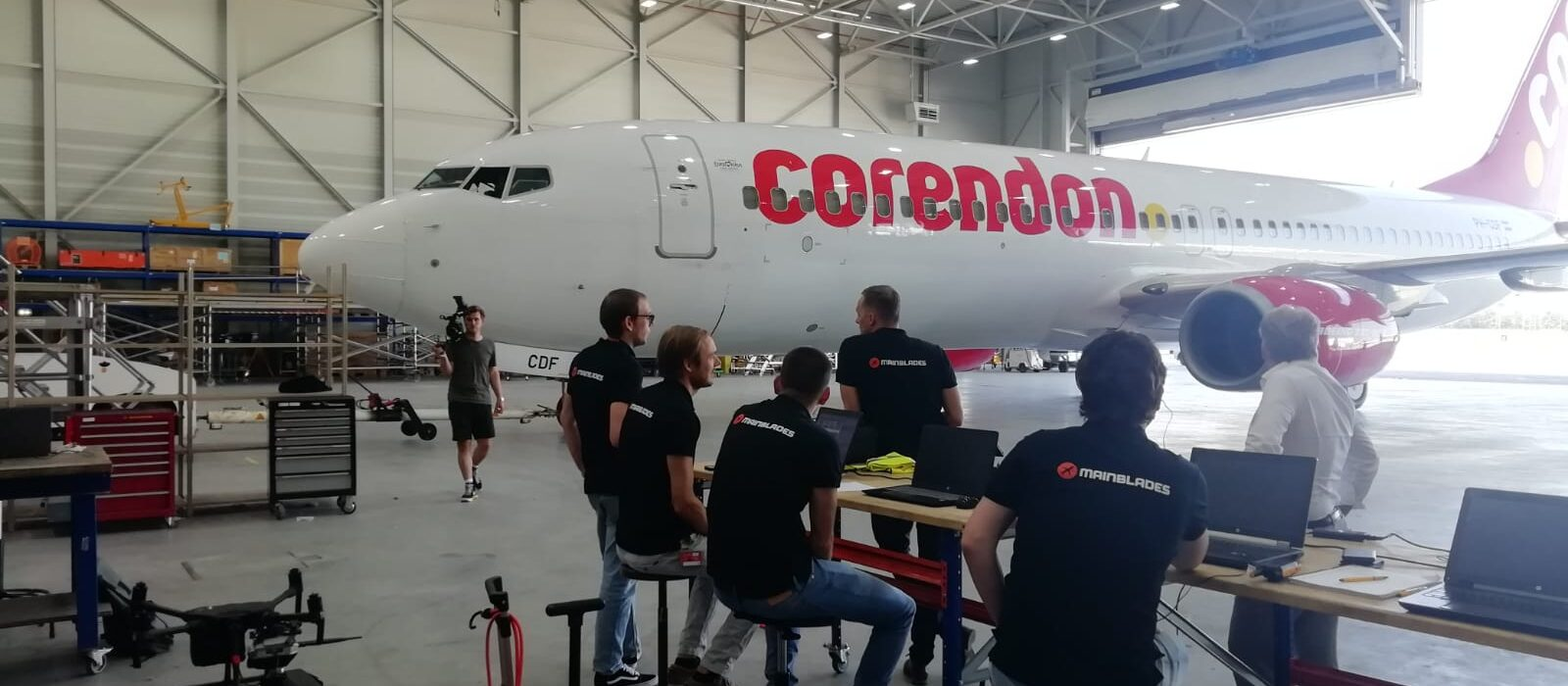 corendon aircraft inspections with a drone