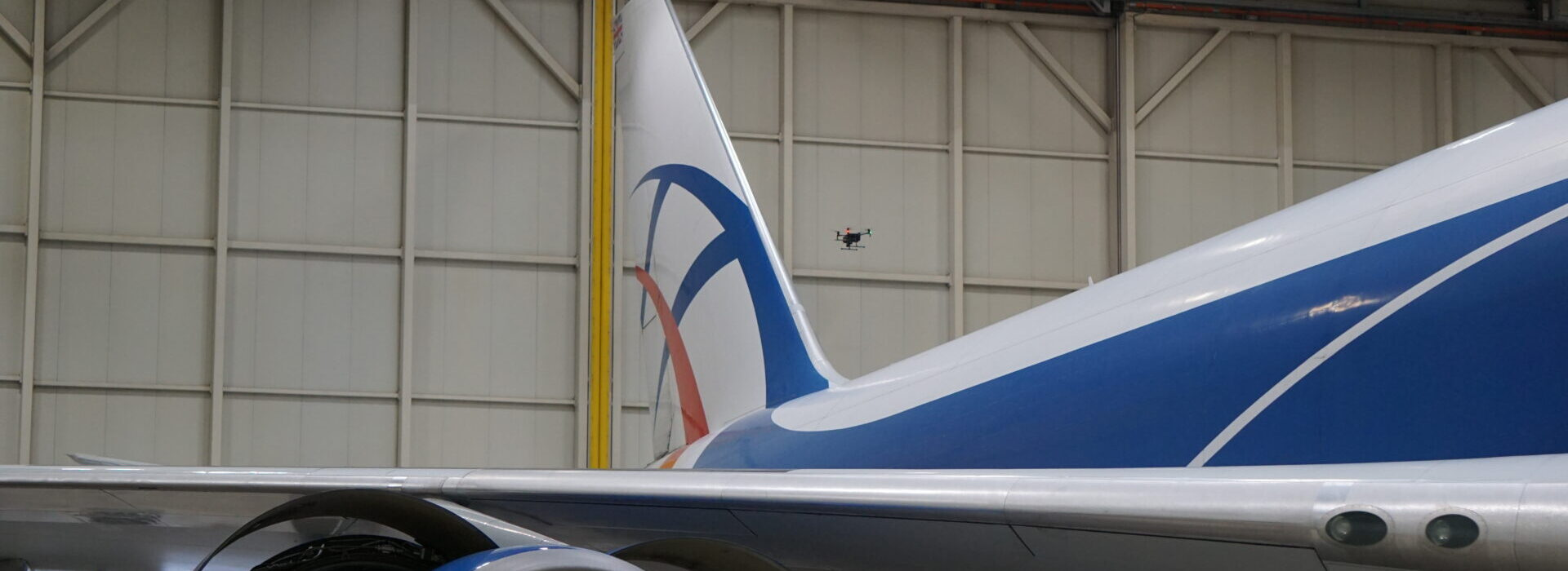aircraft drone inspection demo in schipol