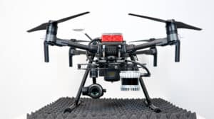 drone equipped with lidar sensor and ISAAC
