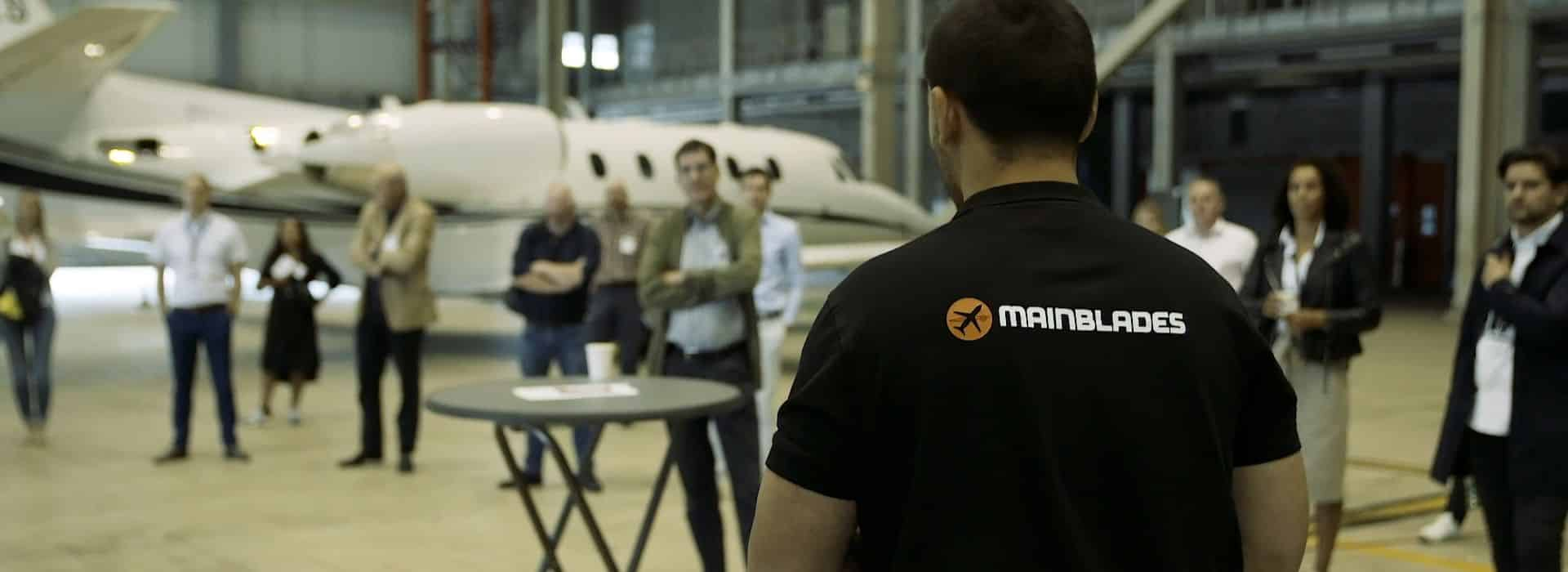 aircraft drone inspection demo in maastricht adressing innovations in MRO