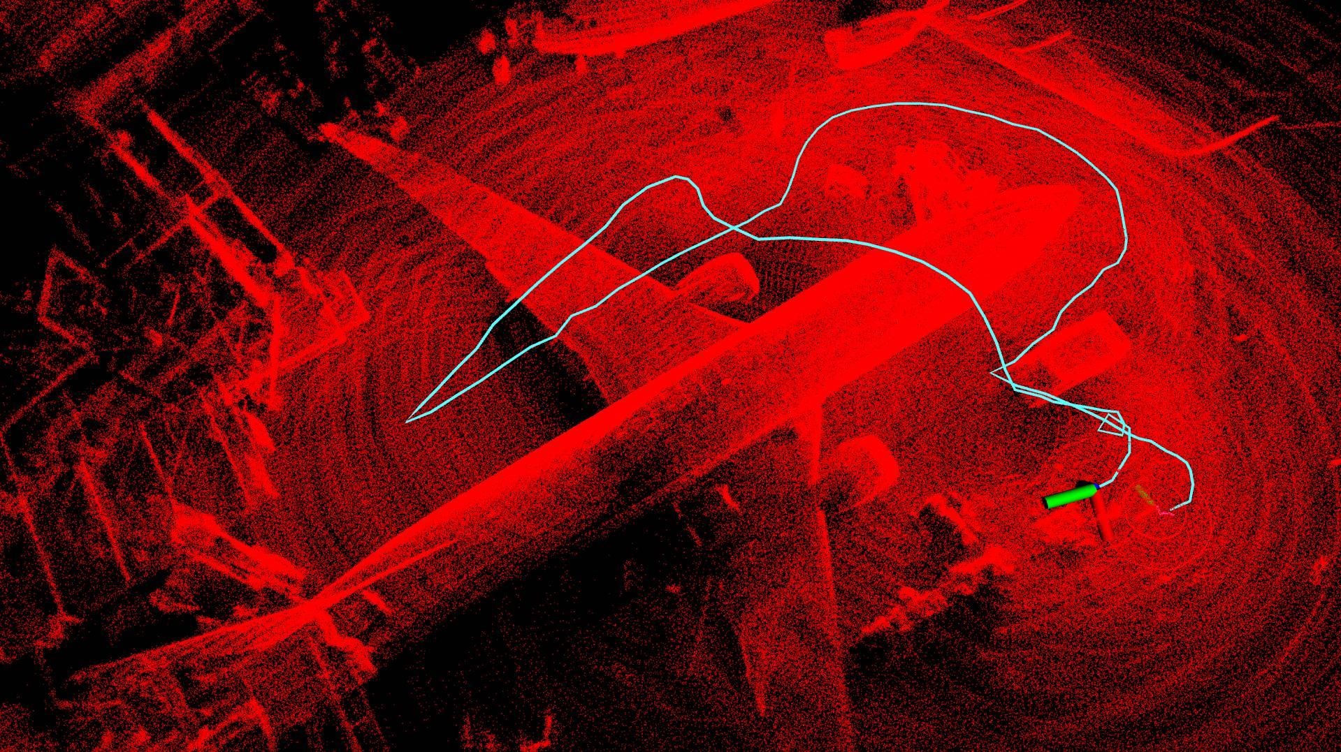 aircraft drone inspection lidar path